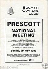 Bugatti Owners Club Prescott National Hillclimb Programme May 1988