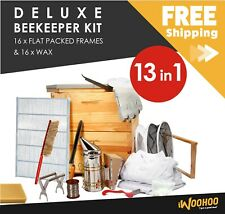Beekeeping Deluxe Kit - All in one DIY kit - 8 Frame- Au Wax - NZ Made Frames