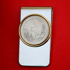 US 2011 Montana Glacier National Park Quarter BU Coin Two Toned Money Clip