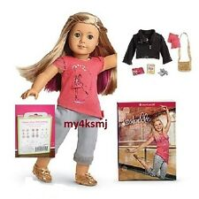 American Girl ISABELLE DOLL + BOOK with PIERCED EARS 7 pr EARRINGS + ACCESSORIES
