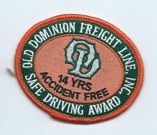 Old Dominion Freight Lines Inc driver patch 14 yrs accident free safe drvg #443