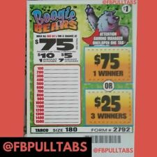 Boogie Bears 1 Dollar Pull Tab Game - 180 Count - 60 Profit - Fundraising