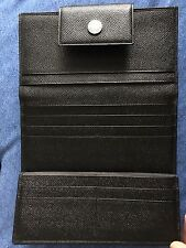 Authentic Ladies Bvlgari Black Trifold Purse Wallet Lovely Soft Leather