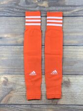 Adidas Adult Compression Calf Sleeve Pair Semi Solar Red/White NWT $25.00