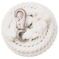 """Weaver White Cotton Lead Rope With Nickel Plated Bull Snap - 5/8"""" x 10'"""