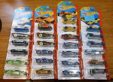 NEW Lot of 25 MIXED CARS - 2014 HOT WHEELS RED CARD / HW RACE CAR SERIES