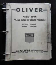 GENUINE 1957-1958 OLIVER 77 & SUPER 77 TRACTOR PARTS CATALOG MANUAL VERY GOOD