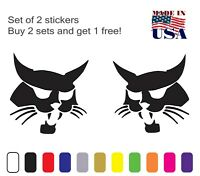 BOBCAT Logo Vinyl decal 2 PACK Skid Steers Excavators Implements Made In USA