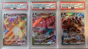 Pokemon Kanto Starters VMAX Charizard & Venusaur & Blastoise PSA 10