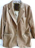 Mens Khaki Corduroy Blazer Coat Jacket, Extra Large-XL, by Machine Clothing Co.
