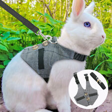 Small Animal Harness and Leash Cat Puppy Ferret Squirrel Rat Rabbit Clothes S-L