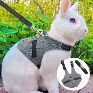 Small Animal Harness and Leash Cat Puppy Ferret Squirrel Rat Rabbit Clothes S-L