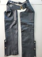 Biker USA Bikers Dream Apparel Motorcycle Leather Chaps 3XL Black XXXL *Smoker*