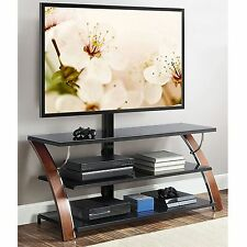 "TV Stand For Flat Screens 65"" Entertainment Center Cabinet Wall Mount Table Top"