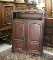 French Antique Oak Louis XV 2 Door Cabinet