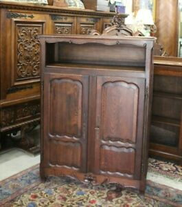 French Antique Oak Louis XV 2 Door Cabinet