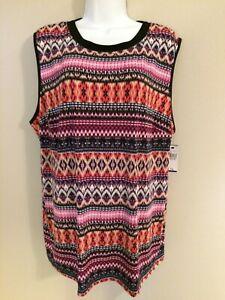 L Msrp $44.00 Alyx Sleeveless V Neck Knit Blouse Size M