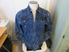 Denim Jacket men's  Black Keys size-XL Distressed Ripped look