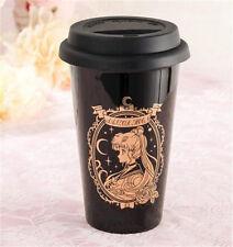 Japanese Anime Sailor Moon Cup Bandai Cute Rare Black Ceramic Cup Gift New