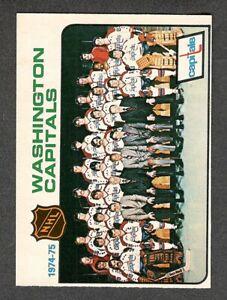1975-76 WASHINGTON Team Photo #98 NM-MT OPC * Capitals CHECKLIST Key Hockey Card
