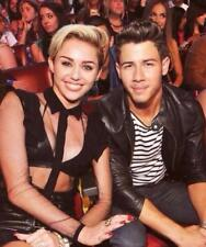 GLOSSY PHOTO PICTURE 8x10 Nick Jonas And Miley Cyrus Posing For Camera