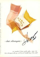 1962 Hanes Stockings Art Work PRINT AD
