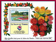 1994 FRANCE BLOC N°16** NEUF LUXE DAHLIAS SALON DU TIMBRE / Sheet MNH