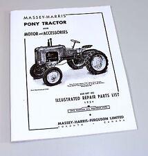 Massey Harris Pony Tractor Parts Catalog Repair List Manual Motor Accessories