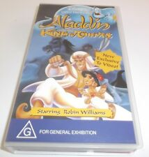 ALADDIN AND THE KING OF THIEVES VHS VIDEO BRAND NEW