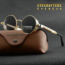 Vintage Polarized Steampunk Sunglasses Fashion Round Mirrored Retro-Sunglas M3G4