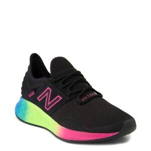 Mujer New Balance Fresh Foam Roav Atlético Zapatos Negros Arcoiris