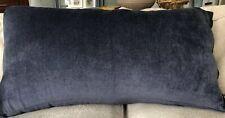 King Size Navy Blue Indigo Chenille Pillow Sham