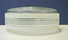 """Crystal Clear White 9-3/4"""" Fitter Glass 10.5"""" Drum Shade G0079 NEW Vintage WOW!"""