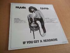 Frank Zappa - If You Get A Headache (1975) rare live Beefheart not TMOQ SEALED