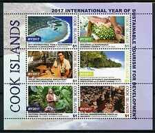 Cook Islands 2017 MNH UN Intl Year Sustainable Tourism 6v M/S Trees Stamps