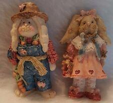 Multi Color Boy And Girl Farmer Bunnies