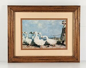 Sir James Guthrie To New Pastures Art Print Girl & Geese Framed Scottish Realism