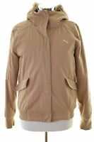 Puma Womens Jacket Size 12 Medium Brown Cotton Vintage