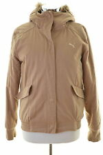 Puma Womens Jacket Size 12 Medium Brown Cotton Vintage