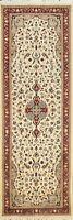 Vegetable Dye Wool/ SILK Traditional Floral Oriental Runner Rug Hand-Knotted 3x9