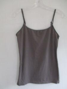Ann Taylor Loft Size M Cotton Blend Gray Camisole