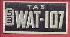 1953 TOPPS License Plate Trading Cards # 61 AUSTRALIA TASMANIA
