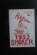 1949 or 1952 HARVARD UNIVERSITY FRESHMAN SMOKER PROGRAMME