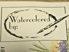 WATERCOLORED BY:  Retired    Art Impressions Rubber stamps