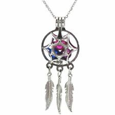 Dream Catcher Pearl Cage Floating Locket Necklace NO Akoya Oyster Pearl K616