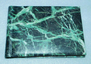 Green Marbled Mini Photo Album 24 Picture 3x5 Spiral Bound Family Organizer