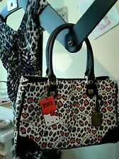 HELLO KITTY LEOPARD PATTERN LOUNGEFLY HANDBAG Tote Shoulder Purse 2014 NWT-Other