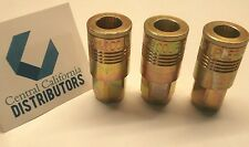 "Milton 1803 P Style Air Hose Fittings Couplers 3 PACK 1/4"" NPT"