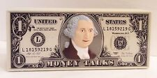 Blabbermouth Money Talks Dollar Bill AM FM Radio Powertronic by Nasta Vintage