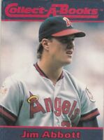 FREE SHIPPING-MINT-1990 COLLECT-A-BOOKS JIM ABBOTT #27 CALIFORNIA ANGELS